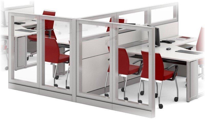 Biombo de vidro para escritório (3)