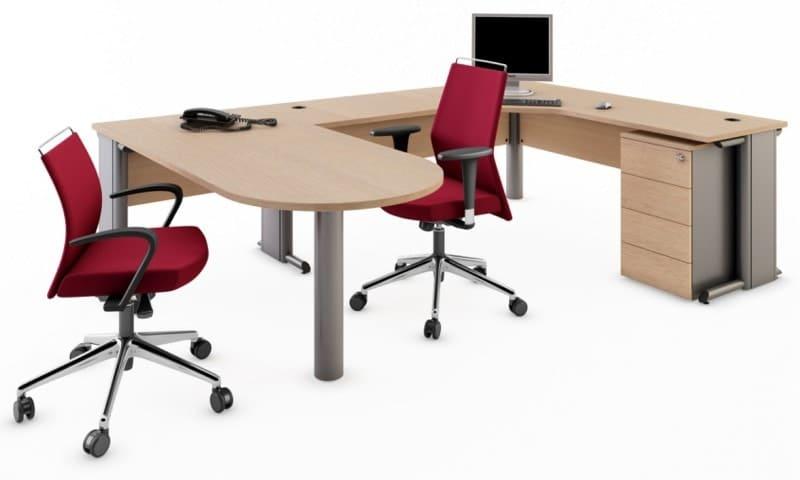 Mesa de reunião redonda (2)